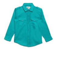 Green AJ Dezines Kids Casual Shirt For Boys
