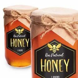Honey Jar  Clear Label