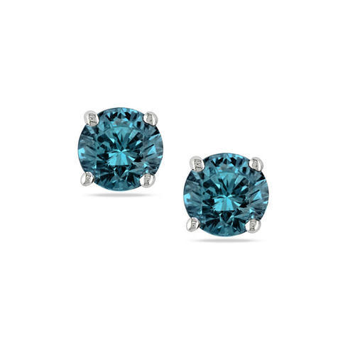 Solitaire Real Blue Diamond Earring