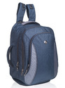 Navy Blue Grey Laptop Trolley Backpack Bag