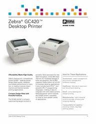 Label Printer, Model No.: Gc420t