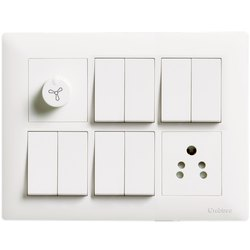 6A Plastic Crabtree Havells Switch, Switch Size: 1 Module
