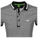 Printed Casual Wear Men Grey Polo T Shirts