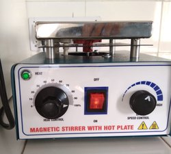 Mild Steel Magnetic Stirrer With Hot Plate With Copper Winding