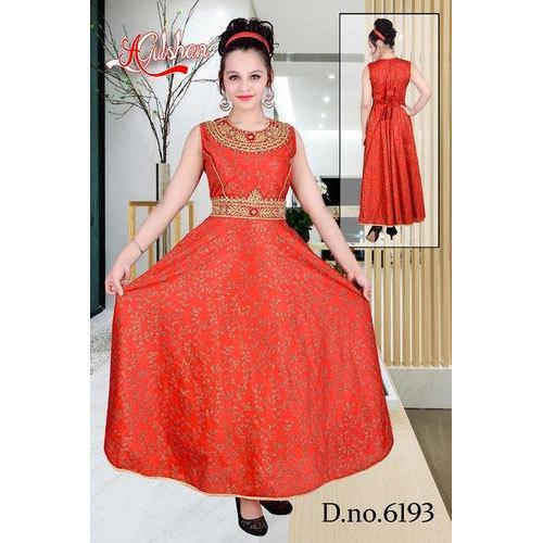 2092ff84a74 Red Party Wear Fancy Gown