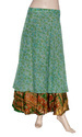 Vintage Silk Sari Wrap Skirt
