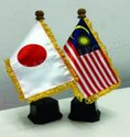 1014 Japan Malaysia Table Flag