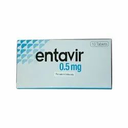 Cipla Allopathic Entavir 0.5mg Tablets, Packaging Type: Blister, Grade Standard: Medicine Grade