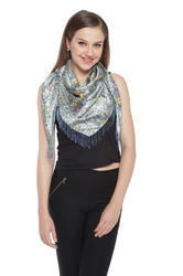 Multi Colour Triangular Scarves with beaded fringes