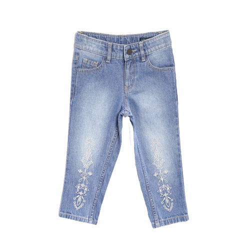 Casual Wear Regular Kids- Girls Embroidery Jeans Pants, Machine wash, Rs  450 /piece | ID: 20051566173
