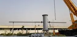 Power Metal Unipole Hoarding Structure, Industry/Application: Advertisement