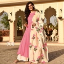 Pink Designer Palazzo Suit