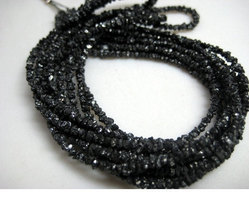 15 Ct Natural Rough Raw Diamond Strand Necklace, Shape: Roundel, Size: 2 To 3 Mm