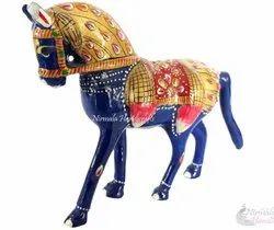 Nirmala Handicrafts Exporters Metal Meenakari Horse Statue Enamel Work Figurine
