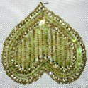 Heart Shape Beaded Patches