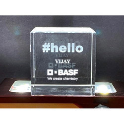 Transparent 2d Crystal Cube