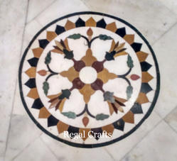 Marble Inlay Flooring Pattern