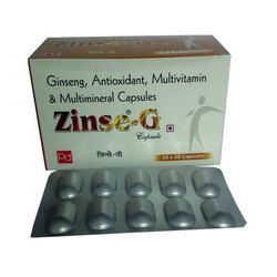 Ginseng 42.5mg Calcium Pantothenate 5 Mg Niacinamide 15mg Capsules