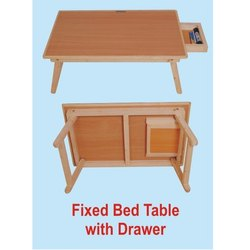 Roger & Moris Wooden Fixed Bed Table with Drawer