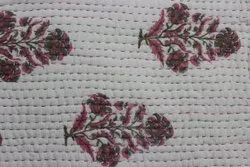 Flower Printed Kantha Quilted Quilts