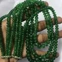 Natural Tsavorite Green Garnet Smooth Rondelle Beads Necklace Rare Size