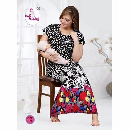 63c7cba6d5 Ladies Printed Full Length Nightwear Gown
