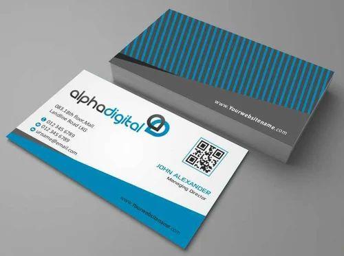 Rectangular Digital Visiting Card