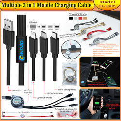 Multiple 3 in 1 Mobile Charging Cable H-1402