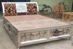 Steel Double Bed for Home