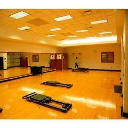Aerobics Wooden Hall Surface
