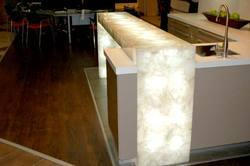 White Quartz Kitchen Counter Top