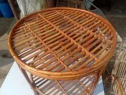 Cane Wood Round Table