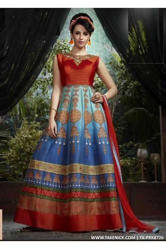 A Line Flared Indian Prom Dresses Evening Multi Colour Gown, Size ...