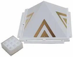 Jiten Plastic Vastu Shastra Pyramids (White_4.4 Inch x 4.4 Inch x 4.4 Inch)