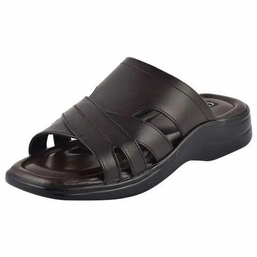 3c6131d5ec88 Men Slippers - Men Black Unlined Slippers Manufacturer from Agra