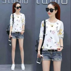 Missimo Collection Printed Imported Flower Print Top, Size: M,L, 15-25
