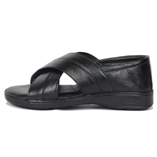 471a58e529b07d Black Designer Leather Sandal