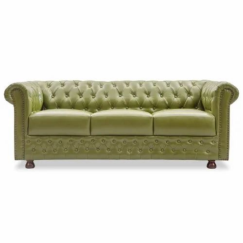 Durian Elton Three Seater Leatherette Lounge Seating Sofa, For Offices