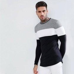 Cotton Mens Full Sleeves Round Neck T-Shirt
