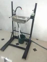 foot operated hand wash system
