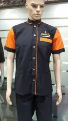 Black Uniform With Orange Piping Shirt