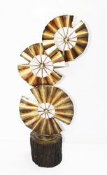 CNC Wall Art Hand Fan Table Decor, For Wall Decoration, Size: 15*18 Inch
