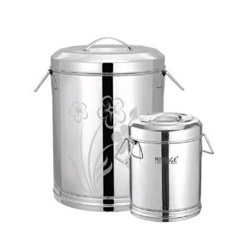 0d45975c9c Large Steel Storage Round Container, Capacity: 51 L, Rs 414 /piece ...