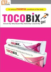 Etoricoxib 10mg,Methyl Salicylate 100mg,Menthol 50mg,Linseed Oil 30mg per gm. Of Gel