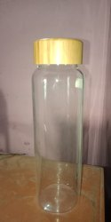Screw Cap Glass Water Bottle