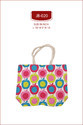 Yellow And Red Apple Printed Jute Bags