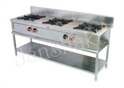 Janshakti Stainless Steel Three Burner Cooking Range