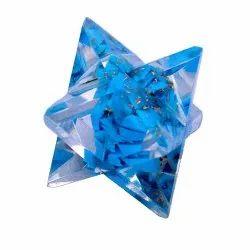 Aslomal Vijay Kumar Crystal Blue Turqoise Orgone 8 Point Merkaba Star