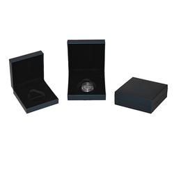 Blue Wrapped Plastic Base Medal Box, For Medal, Gift Packaging