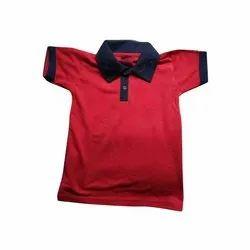 Plain Mens Collar Neck Matte T Shirt, Packaging Type: Packet
